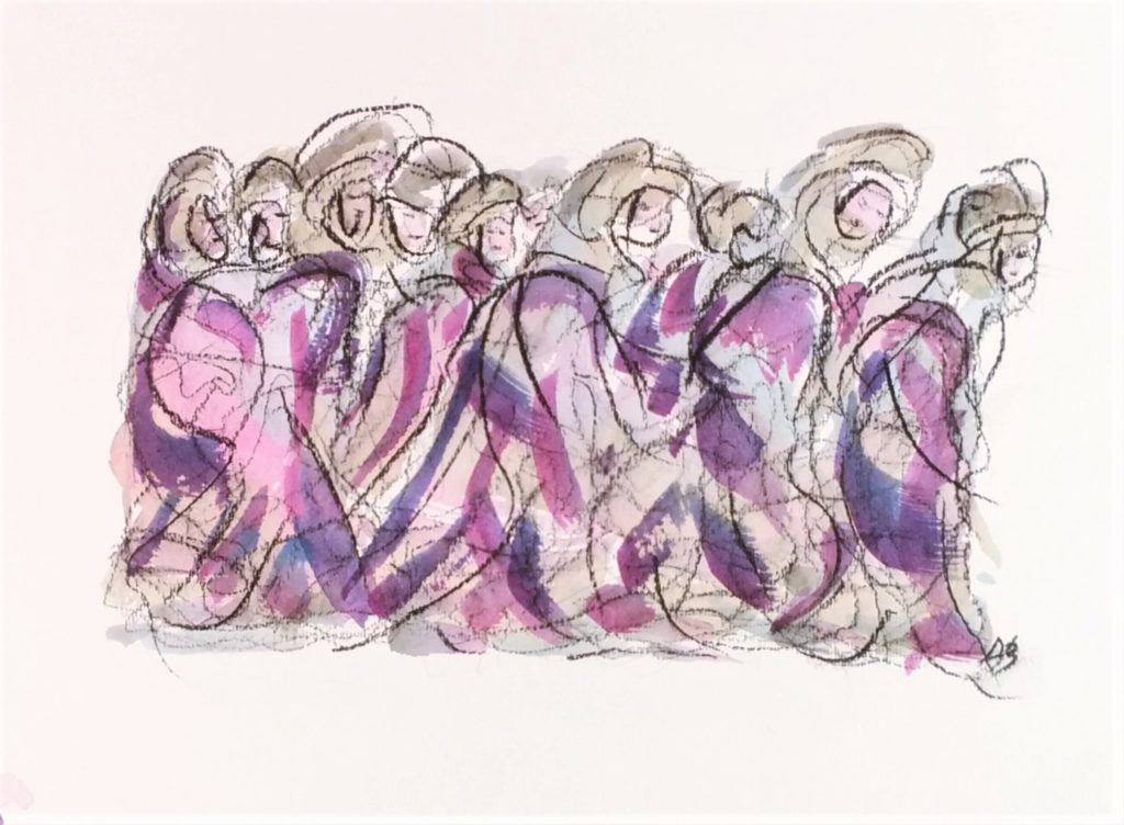Demoiselles coiffées - Bonneted maiden